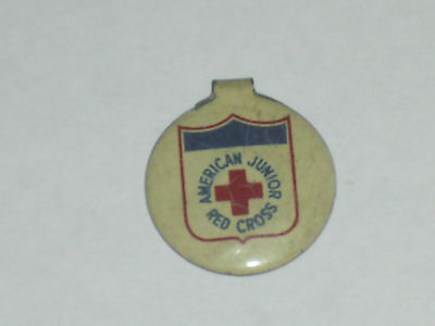Vintage American Junior Red Cross Pin Button WWII