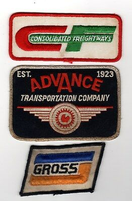3 Different LTL Truck Patches CF Advance Transportation Gross Common Carrier