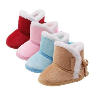 Toddler Booties Baby Soft Sole Boy Girl Boot Crib Infant Winter Warm Shoes 0-18M
