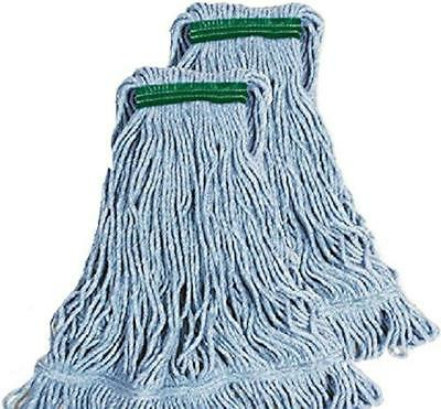 New Members Mark Commercial Super Stitchs Large Mop Heads - Two (2) Pack NIP