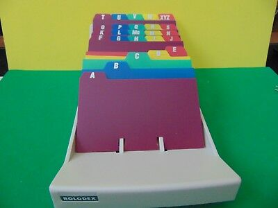 """Brand New A-Z 25 Alphabet Poly Index Card Dividers for Rolodex 3 x 5"""" Card File"""