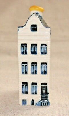 KLM BOLS Amsterdam Holland Blue Delft House Bottle #58 Collectible Empty
