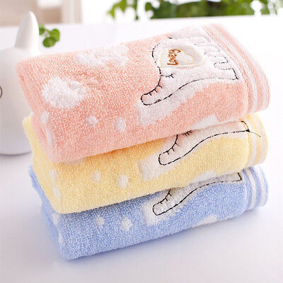 FT- Little Elephant Cotton Soft Water Absorbing Kids Bath Towels Washcloth Relia