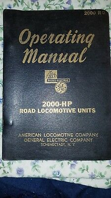 ALCO-GE Diesel-Electric Road Locomotive 2000 HP A and B units Operating Manual
