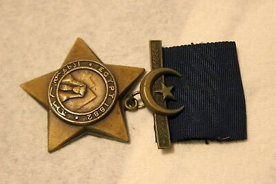 British English The Khedives Star medal order  Named  Duffy 2nd Light Inf