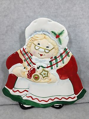 Gift Gallery By Fitz & Floyd Mrs Clause Christmas Cookie Plate