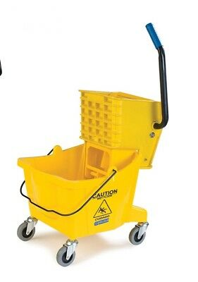 TLC Pak N Ship Carlisle Professional Mop Bucket And Wringer 26qt Janitorial