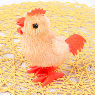 Cute Walking Plush Rooster Gift For Kids Clockwork Toy Wind Up