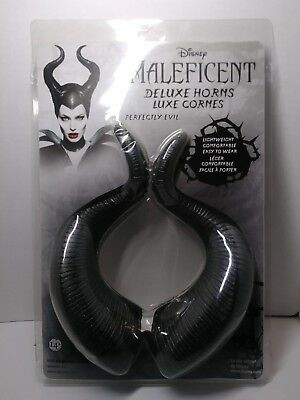 Deluxe Disney Maleficent Horns Cosplay One Size Elope New Hottopic