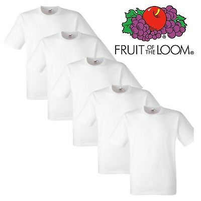 Pack of 1x 2x 3x 5x Fruit Of The Loom Mens Womens Boy/Girl T-Shirts 100% Cotton