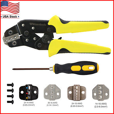 Insulated Wire Terminals Connectors Ratcheting Crimper Tool Cable Crimper Pliers
