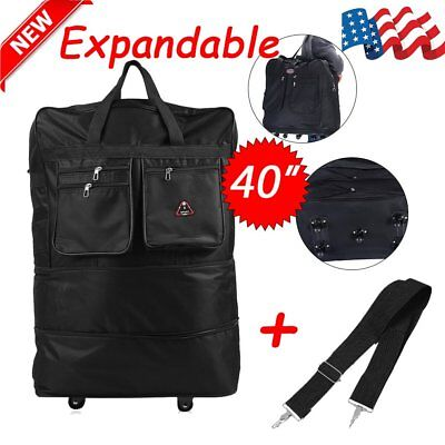80ee46a5a44 3 36 black rolling expandable duffle bag spinner suitcase luggage with 8 wheels  big sale acbe3 19851 - swamijikipathshala.com