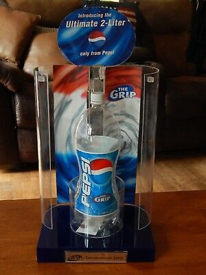 "'90s Pepsi Commemorative Bottle w/ Two-Door Display ""THE GRIP"" 2 Liter Prototype"
