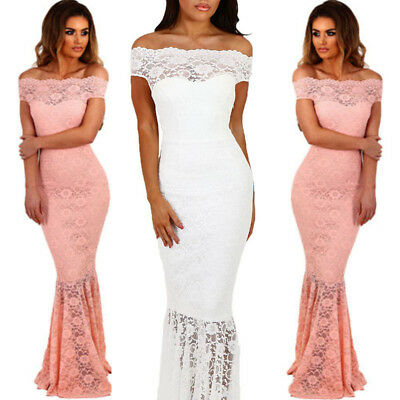 2018 Women's Formal Sequin Mermaid Long Evening Party Ball Prom Gown Dress UK