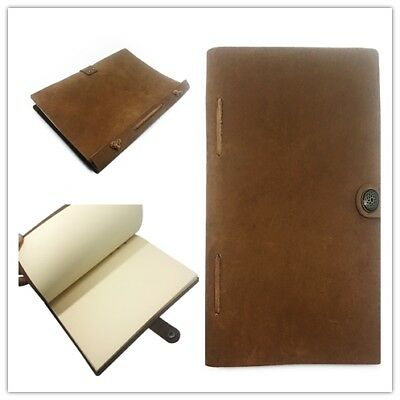 Handmade Leather Travelers Journal Travel Diary Stitched Notebook Hand Made Au