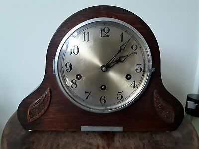 Vintage German Gufa 8 Day Chiming Art Deco Mantel Clock. Fully Working Condition