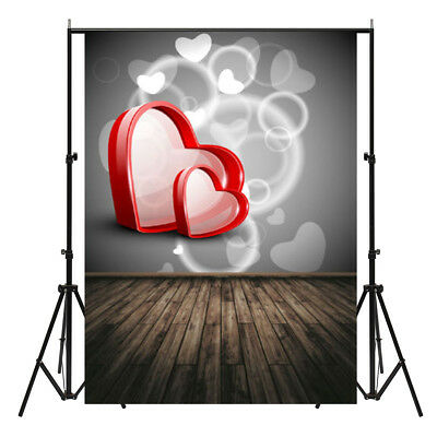 5x7ft Valentine's Day Heart Photography Background Studio Backdrop Photo Prop