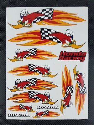 Woody Woodpecker Racing motorcycle decals stickers set 600rr cbr1000rr Laminated