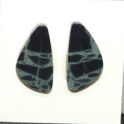 Spider Web Obsidian Cabochons 22.5x12mm with 4mm Dome Set of 2 (13940)