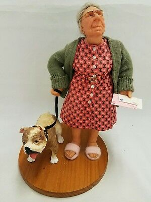 RICHARD SIMMONS Nanas Family Collection of Masters Old woman walking Bull Dog