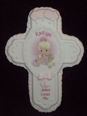 New Kaitlyn Baby Cross By Enesco Precious Moments Collectible Keepsake