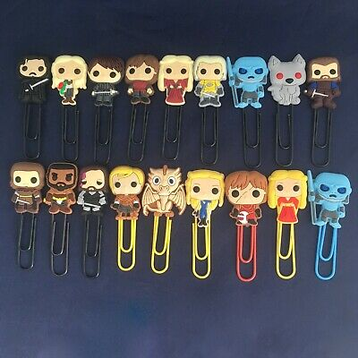 Game of Thrones - Bobblehead Cartoon Bookmark Paperclip - Tyrion Arya Drogo NEW