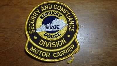 Kentucky State Police Motor Carrier Division  Cloth Back Patch Bx C #19