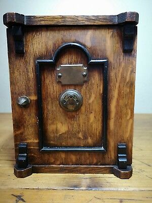Victorian Oak 2 Drawer Smokers Cabinet Bank Safe Tiger Oak Fitted Box