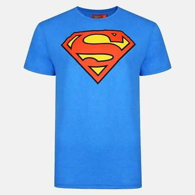 Official Mens Superman T-Shirt DC Comic Tee Top Superhero Logo Slim Fit XS - 2XL
