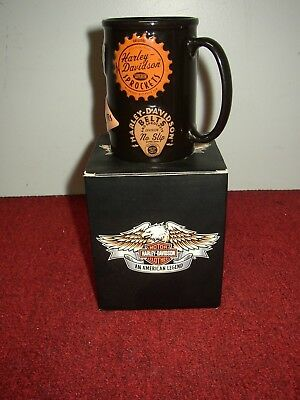 Vintage Harley-Davidson Large Tall Mug - New In Box! Rare! Find Another One!