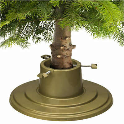 Christmas Tree Stand Gold Holly Round Water Holding 6ft (1.8m) Real Xmas Trees