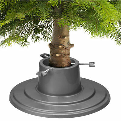 Holly Round Silver Christmas Xmas Tree Stand for Real & Artificial Trees to 6ft