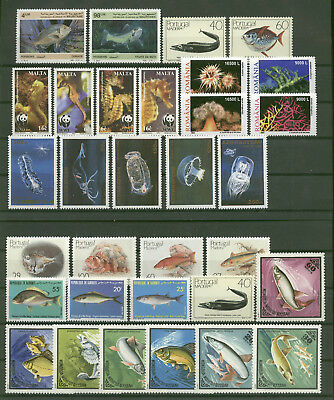Meerestiere, Fische - LOT ** MNH