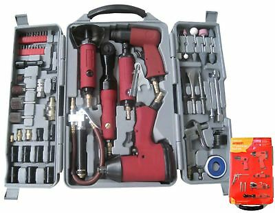 Amtech 77pc Air Tool Kit Set Impact Wrench Die Hammer Ratchet & Grinder Y2430