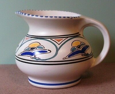 Honiton Pottery Devon Vintage Jacobean Pattern Pot Bellied Jug - New