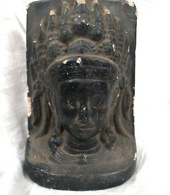 antique sand stone Indian Buddha head statues or figure or idol