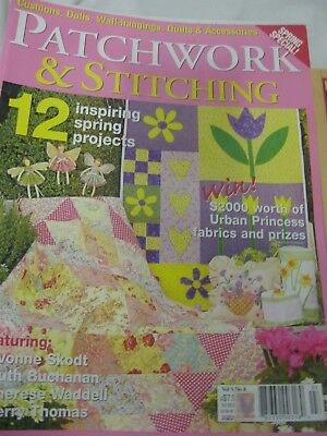 Patchwork & Stitching Mag V5 N8 Daffodil Fruit Butterfly 3D Daffodil Fairy 30's