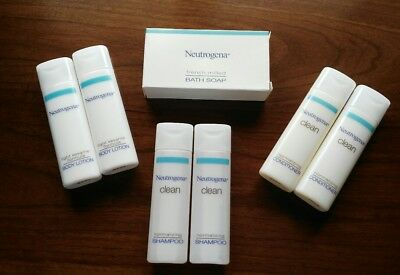 Neutrogena Travel Set Bath Soap Shampoo Conditioner Body Lotion