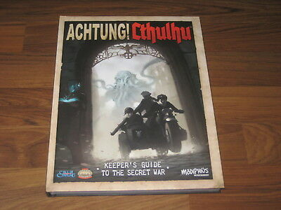 Achtung! Cthulhu Keeper's Guide Hardcover Modiphius Entertainment 2013 Neu New