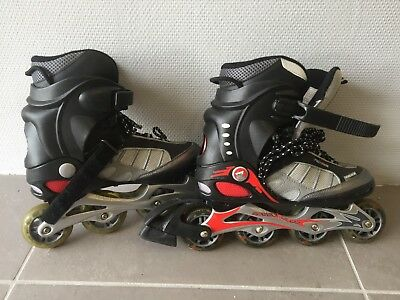 Airwalk inline roller skates black/red US 7, UK 6 (fits 5?)