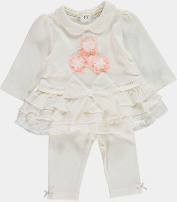 Mintini Baby Girls Spanish Style Adorable TuTu Lace & Bow Top & Leggings Outfit