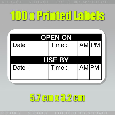 100 x Use By Food Storage Labels Day Dots Label Best Before Date Adhesive Label