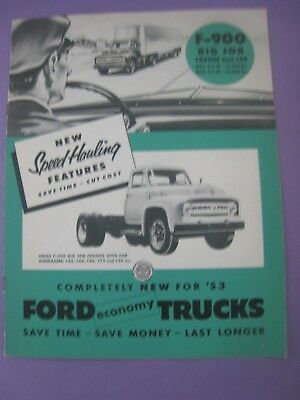 1953... F-900..Brochure...Ford Trucks...Original