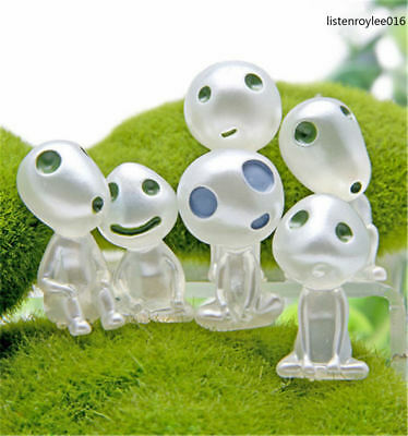 5 Pcs GHIBLI Princess Mononoke Forest Spirit Elf Kodama Dark Toy Luminous Model