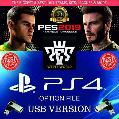 PES 2019 PS4 Option File - The Biggest & Best - Usb Version - Easy Plug &  Play