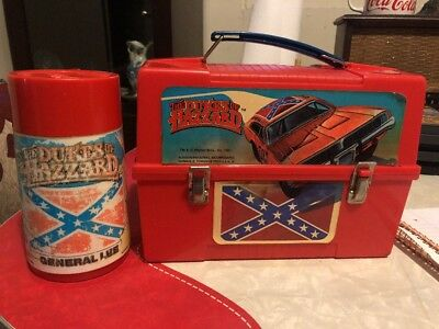Vintage The Dukes Of Hazzard 1981 Plastic Lunchbox With Thermos, Aladdin,WB,HTF