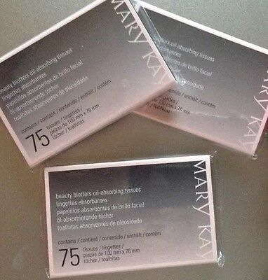 Mary Kay Beauty Blotters Oil-Absorbing Tissues (LOT OF 3)