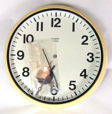Original vintage 1970s Accutec Student school clock