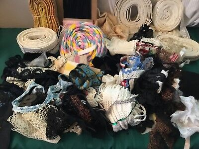 Junk Drawer Lot Vintage Lace,crocheted,boarder,edging,trim Sewing,cutter,crafts