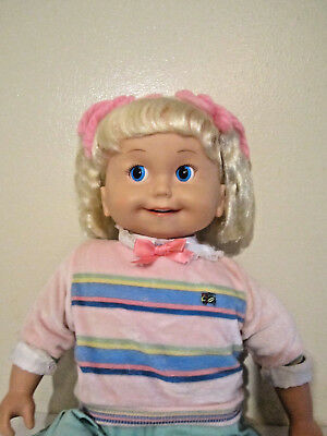 Vintage 1986 Talking Cricket Doll Works Perfectly with Tapes - Great Condition!
